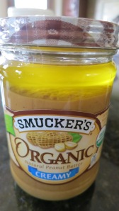 Smucker's Organic Peanut Butter.  Pure Delish.