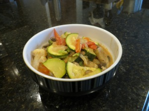 Thai Coconut & Peanut Butter Curry on Buckwheat.